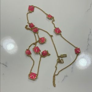 Pink and gold Kate spade necklace
